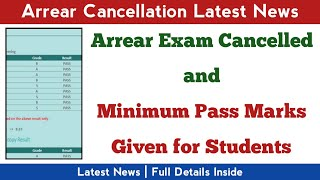 Arrear Exam Cancellation Latest News | Madras University Latest News | Anna University Latest News