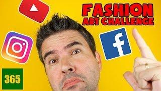 FASHION ART CHALLENGE - YOUTUBE PRINCESSES, FACEBOOK, INSTAGRAM - DRAWING CHALLENGE!