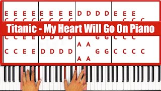 ♫ ORIGINAL - How To Play Titanic My Heart Will Go On Piano Tutorial Lesson (PART 1)- PGN Piano