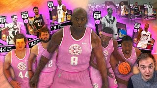 Nba 2k17 my team all 5 pink diamond starting lineup challenge! why is this happening!