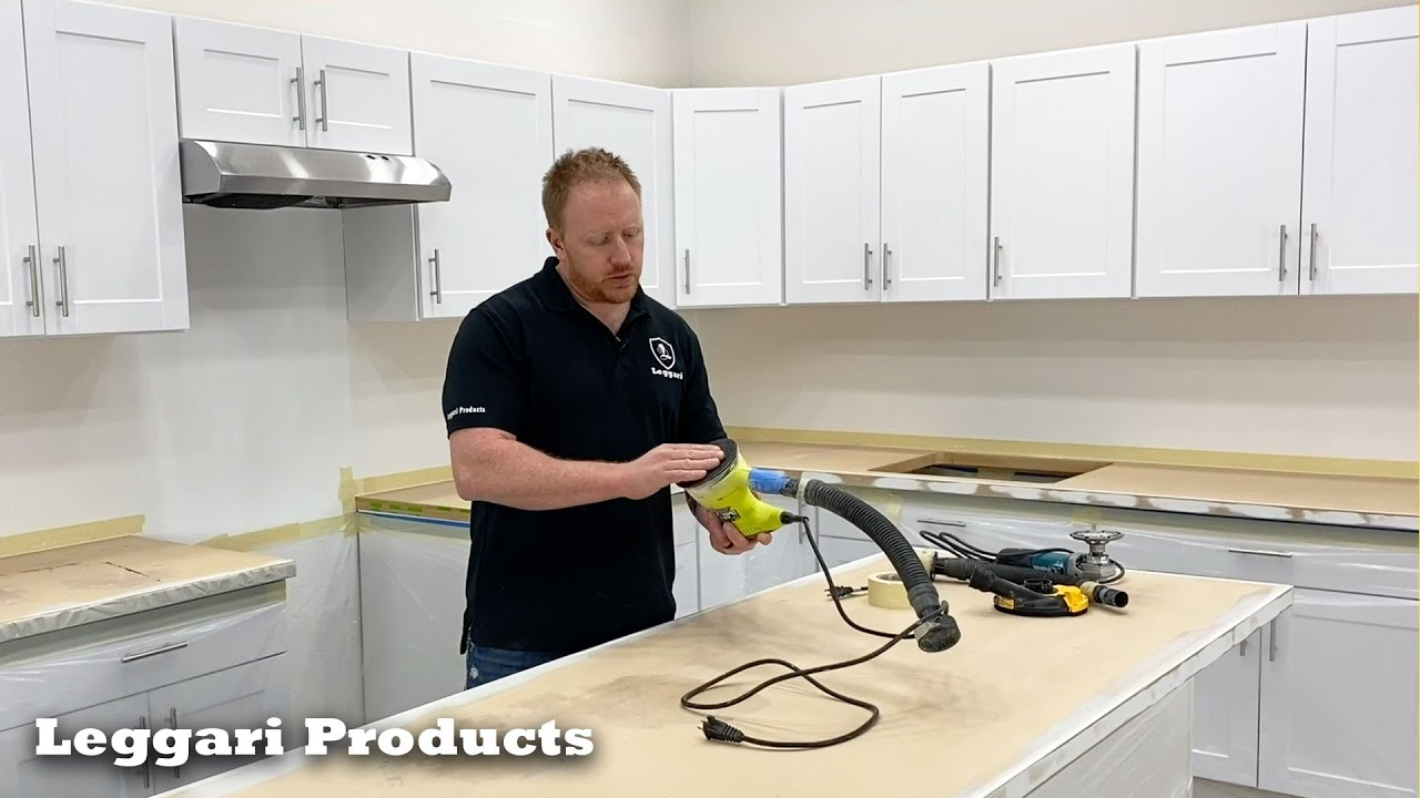How To Prep Countertops For Epoxy Countertop Install Prep For Tile Wood Laminate Granite More Youtube