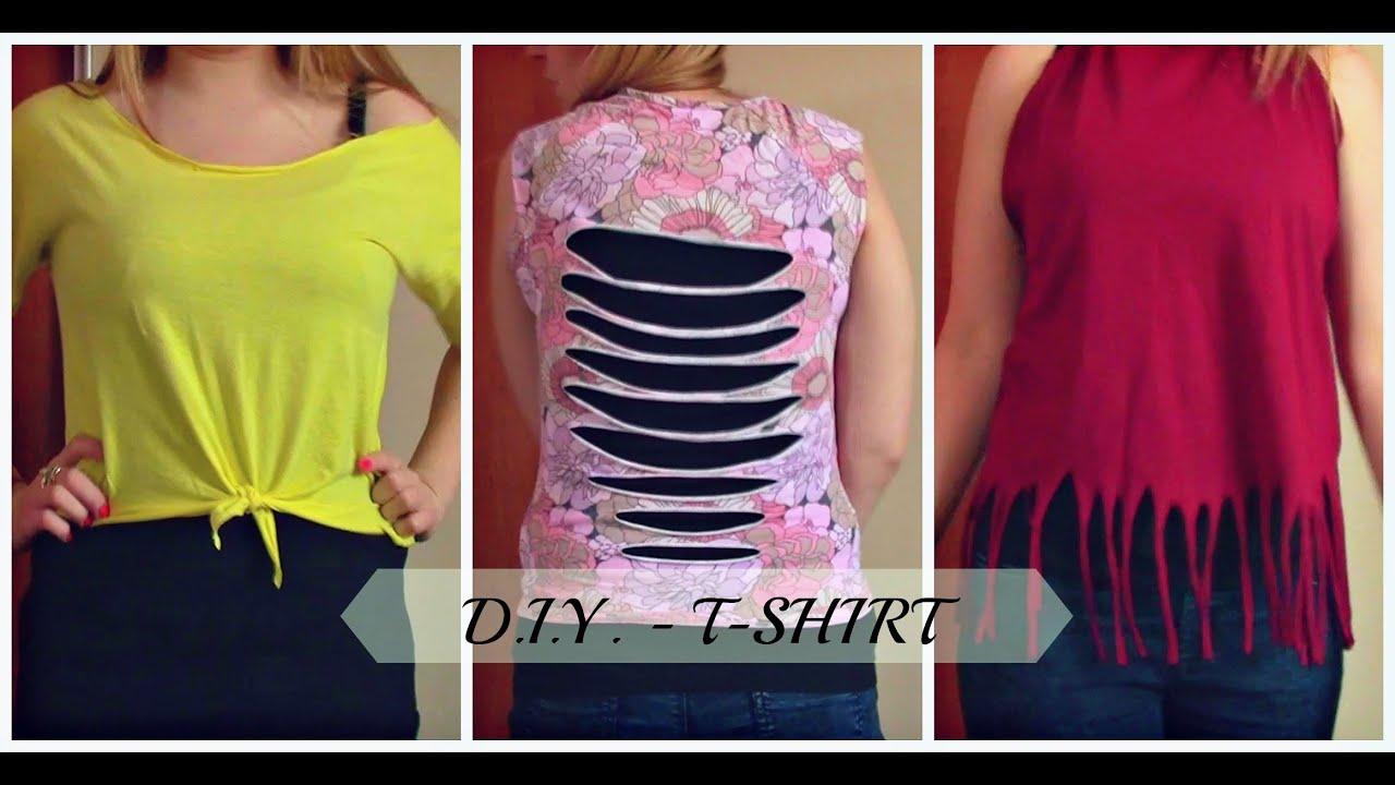 82195a0c1 DIY: Jak przerobić T-shirt - YouTube