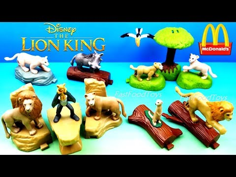 2019 Disney The Lion King Mcdonald S Happy Meal Toys Full Set 10 Kids Movie Collection Unboxing Usa Youtube