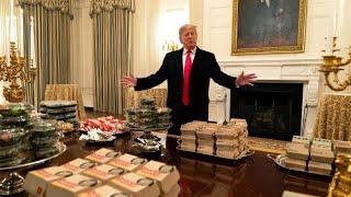 Trump serviert Pizza und Burger