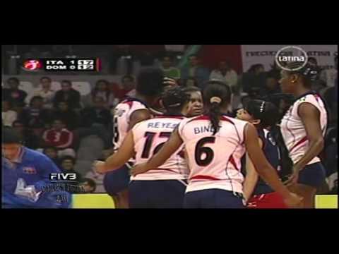 Italia x R Dominicana 2set FIVB Women's Junior 2011