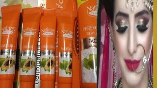 Nature's Essence papaya facial kit Review ll Monthly facial kare ll How to do facial at home fairnes