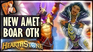 NEW AMET BOAR OTK PRIEST! - Saviors of Uldum Hearthstone