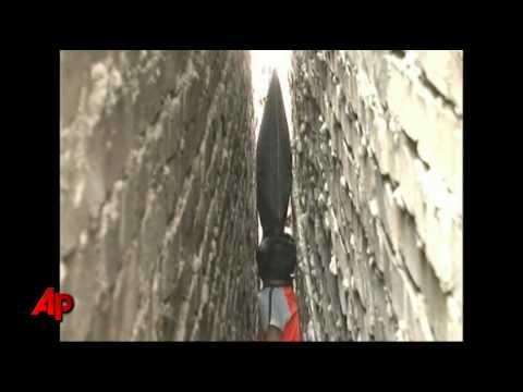 Raw Video: Chinese Boy Stuck Between 2 Walls