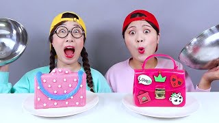Chocolate  Edible Makeup Challenge 초콜릿 화장품 챌린지 DONA 도나