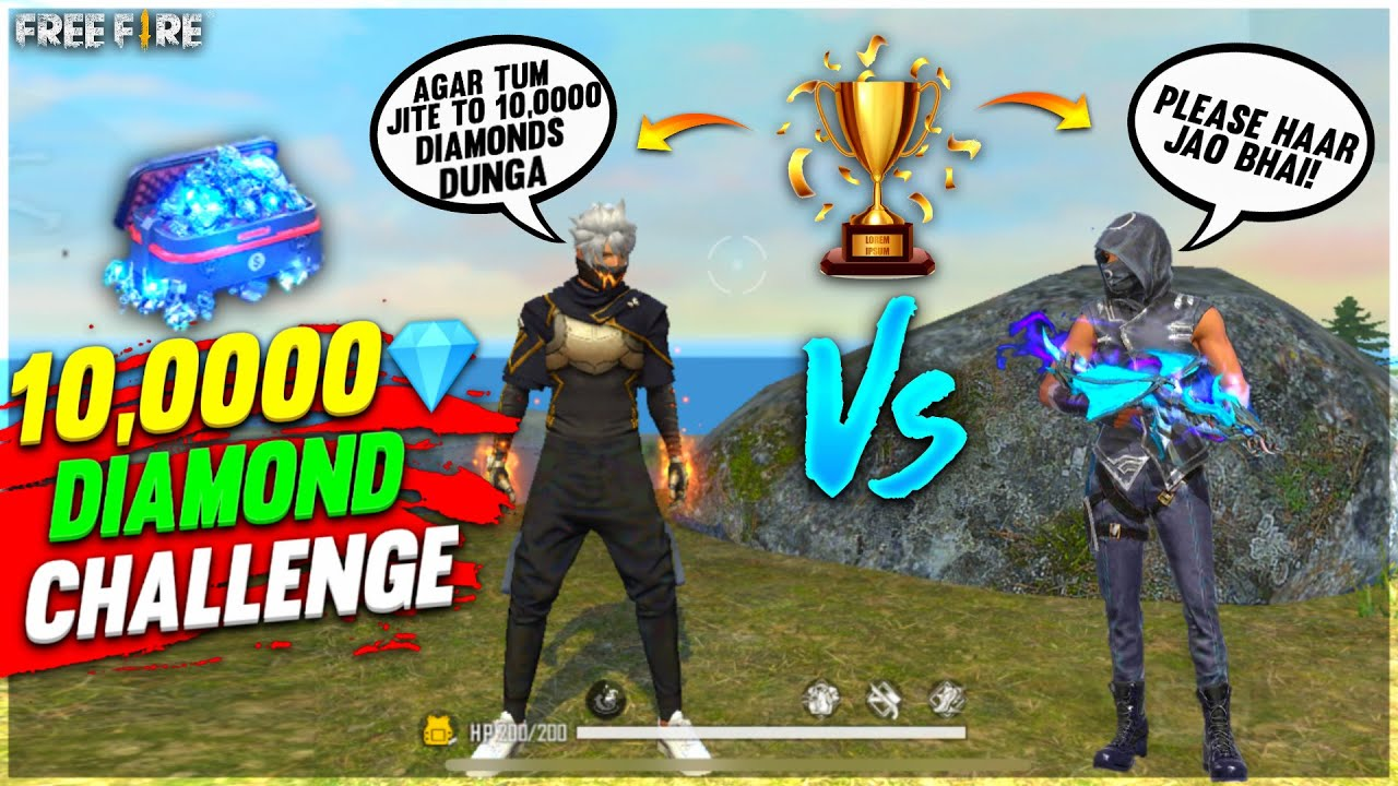 1 Vs 1 With My Subscribe For Dj Alok & 10,000💎Diamond| Funny Moment Who Will Win?- Garena Free Fire