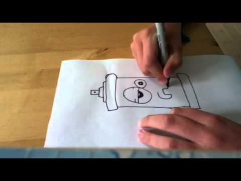 how to draw a crazy spray can easy xd youtube. Black Bedroom Furniture Sets. Home Design Ideas