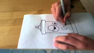 How to draw a crazy spray can (easy) xD