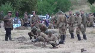 Реконструкция. Начало войны  Брестская Крепость  2018 год.