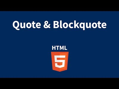 HTML Quote And Blockquote Tags Explained In Tamil