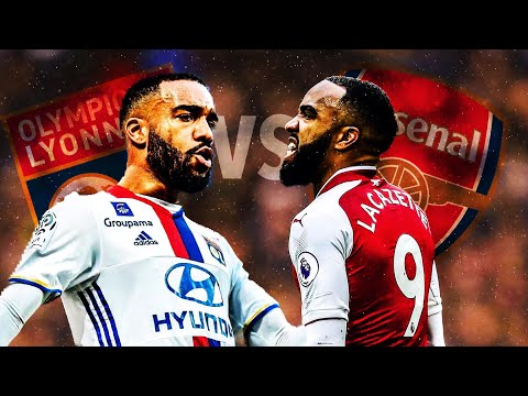 Lacazette In Lyon Vs Lacazette In Arsenal • HD