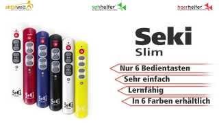 Produktvideo zu Lernfähige Großtasten-Fernbedienung SeKi Slim