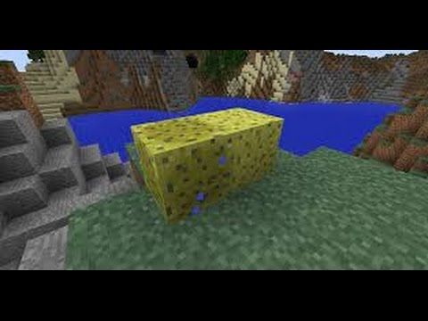 Minecraft Tutorials: How to turn Wet Sponge into Dry Sponge