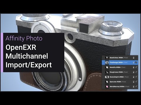 OpenEXR Multichannel Import/Export (Affinity Photo)