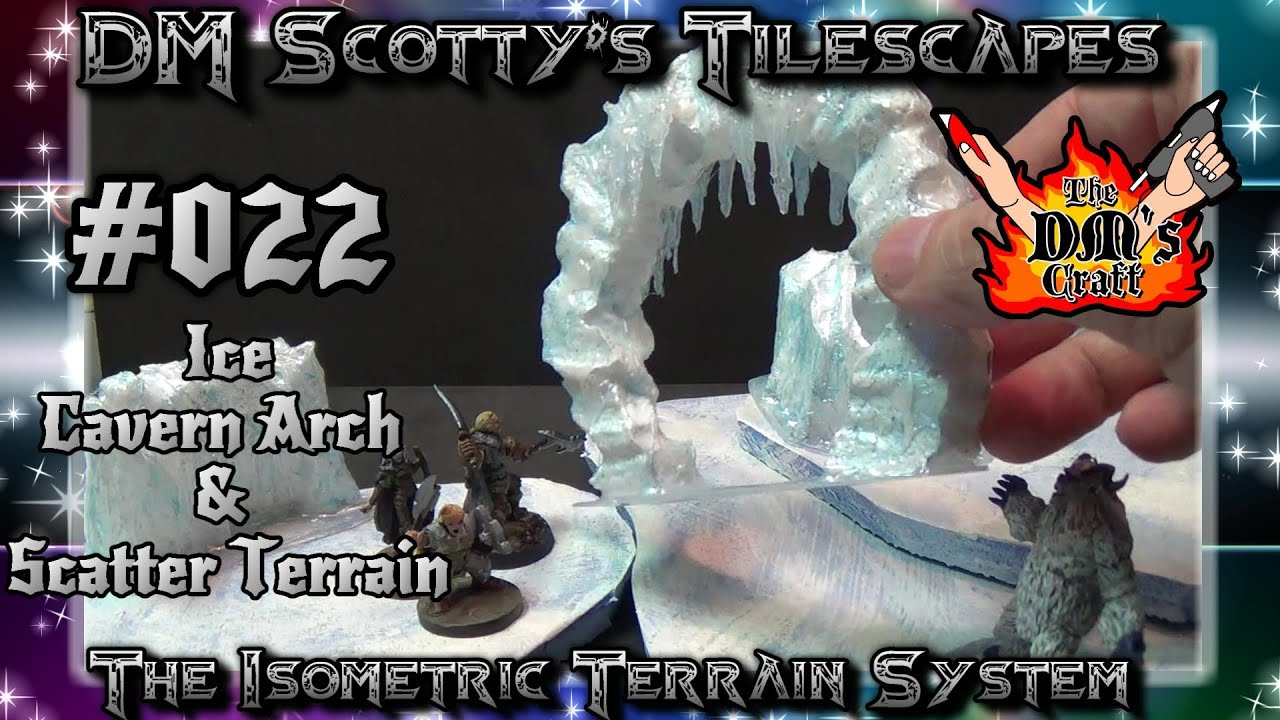 Ice Cavern Arch & Ice Scatter Terrain for Your Tabletop Games (DM ...
