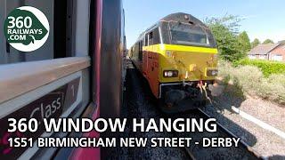 1S51 Birmingham to Derby HST in 360º (View in 4K)