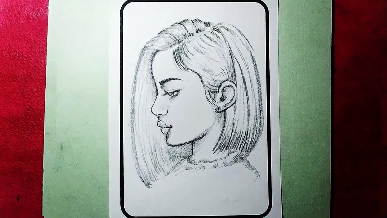 How to draw a girl face side view dont be afraid to draw yzarts