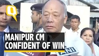 The Quint:  Manipur Assembly Elections: CM Okram Singh Arrives in Thoubal To Cast Vote