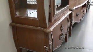 Набор белорусской мебели для гостиной и столовой из массива дуба