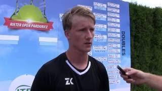 Zdeněk Kolář po prohře v semifinále na turnaji Futures v Pardubicích