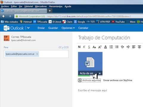 Como Enviar Un E Mail En El Nuevo OutLook YouTube