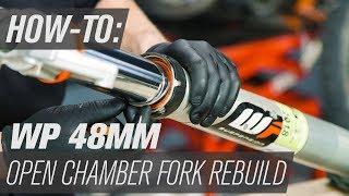 How To Rebuild Fork Seals on WP Open Chamber Forks with Spring Preload Adjuster