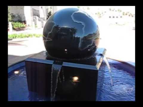 Globe Fountain 48 inch diameter, Pond Application