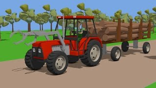 Sawmill - Tractor Fairy Tale for Kids | Farmer | Bajki Traktory - Wyprawa do Tartaku