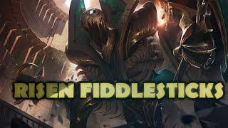 Risen Fiddlesticks Skin Spotlight Gameplay - League of Legends (LoL new skin)
