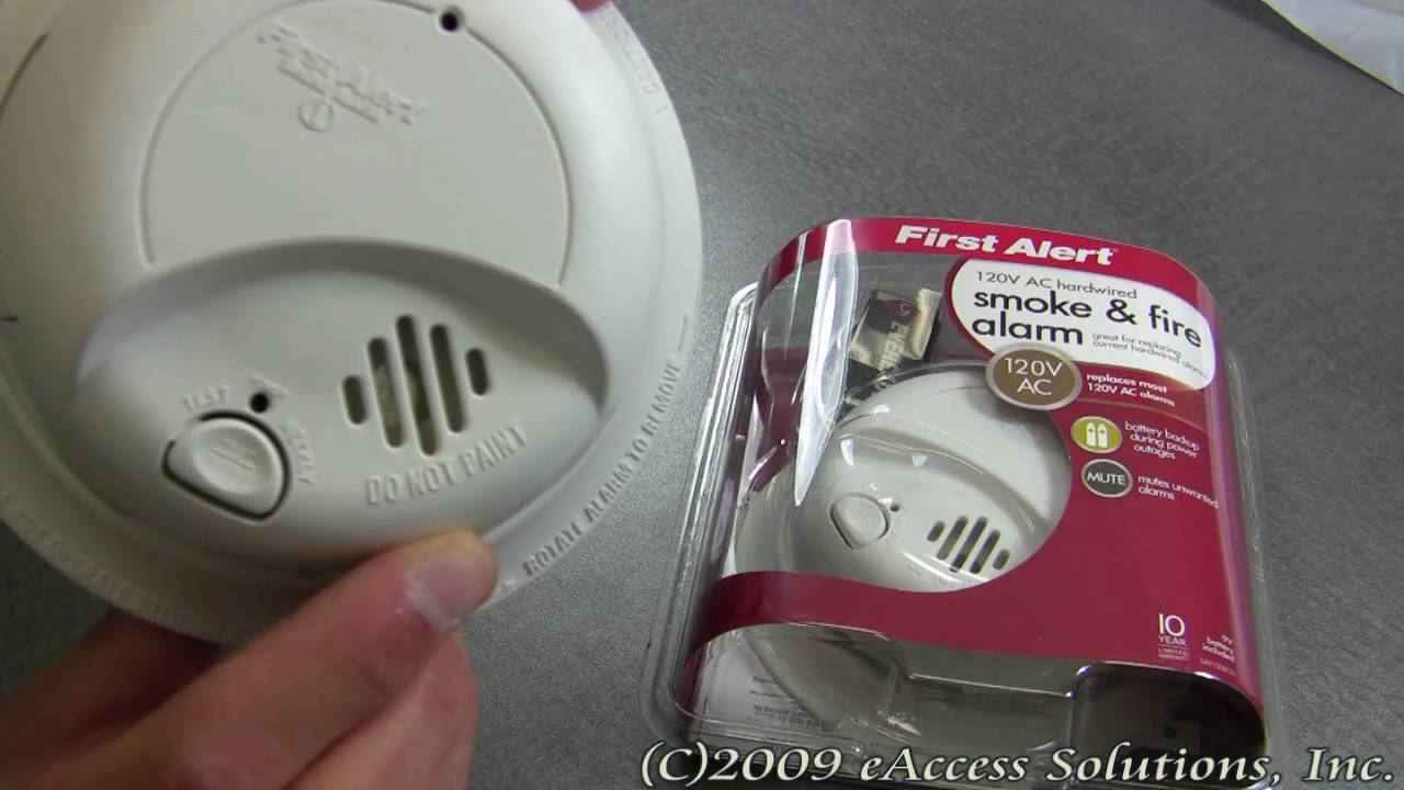 first alert sa9120bcn 120vac hardwired smoke alarm with battery backup first alert store [ 1280 x 720 Pixel ]