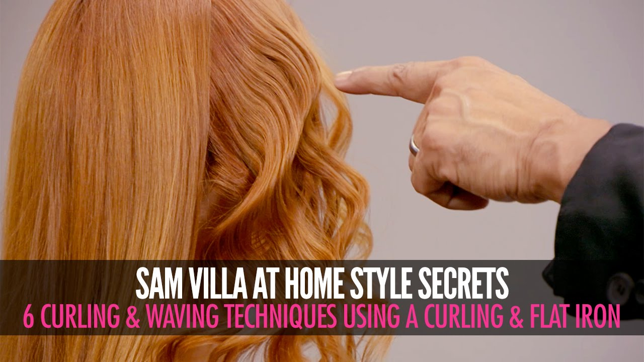 6 Different Ways To Curl Your Hair Sam Villa Youtube