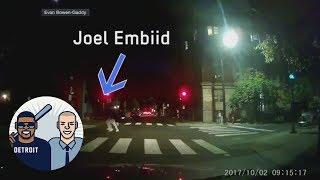 Lyft driver follows joel embiid on night jog through philadelphia | jalen & jacoby | espn