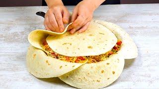 將7片墨西哥薄餅放在鍋裡40分