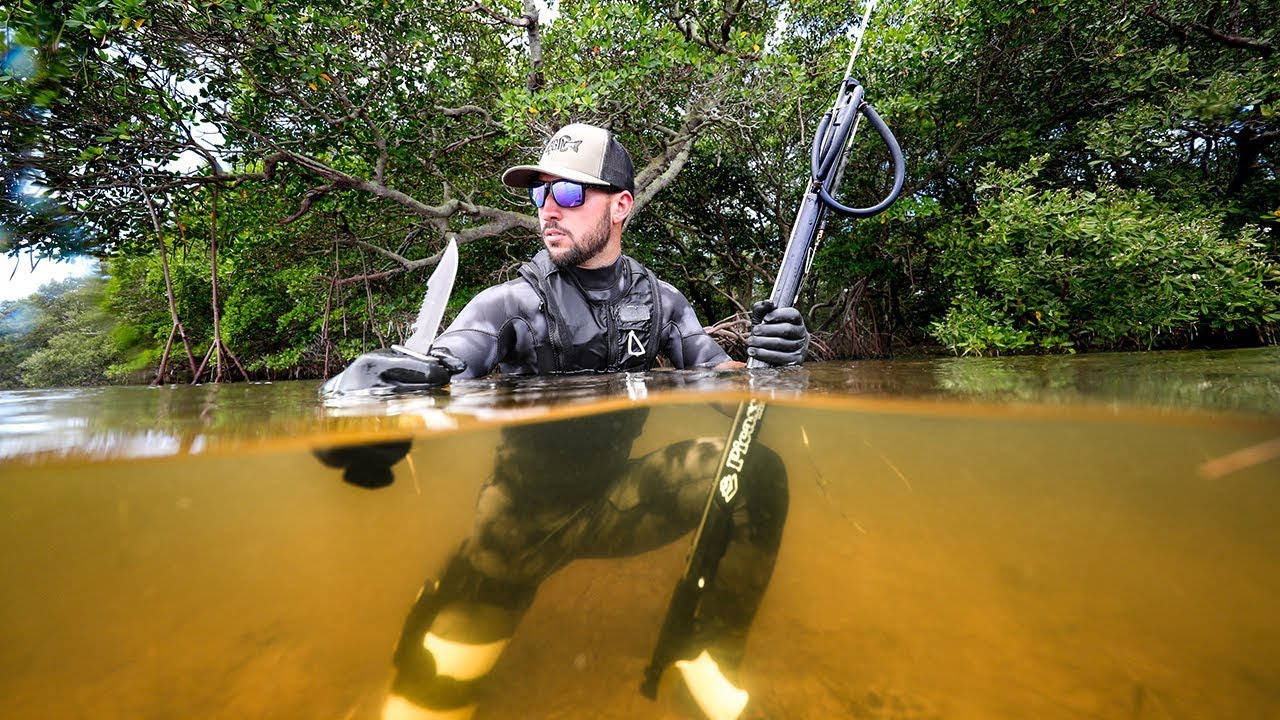 stranded-on-island-in-ocean-survival-challenge-spearfish