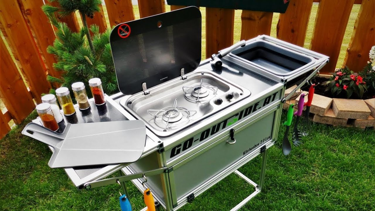 Outwell Outdoor Küche Kitchenbox 2 Lux Camping Und Outdoor Küche Youtube