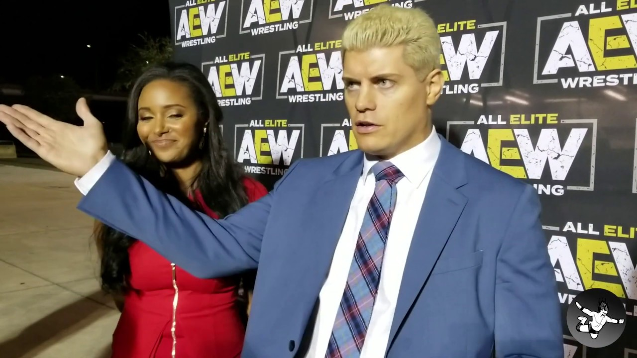 Cody and Brandi Rhodes Interview Following All Elite Wrestling Rally