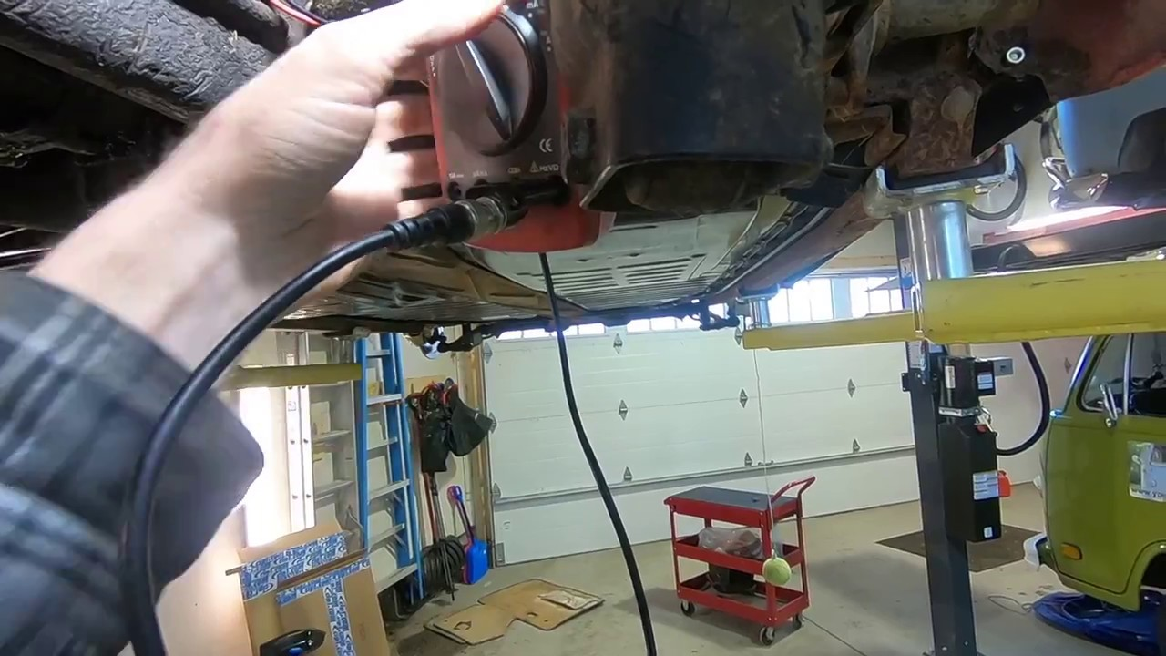 vw beetle - autostick - reverse light switch - testing and wiring