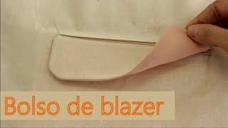 Como fazer bolso de blazer/terno (bolso embutido com aba)