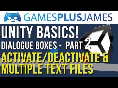 Unity Basics - Activate & De-Activate Dialogue Box! - Creating a Dialogue Box Part 2