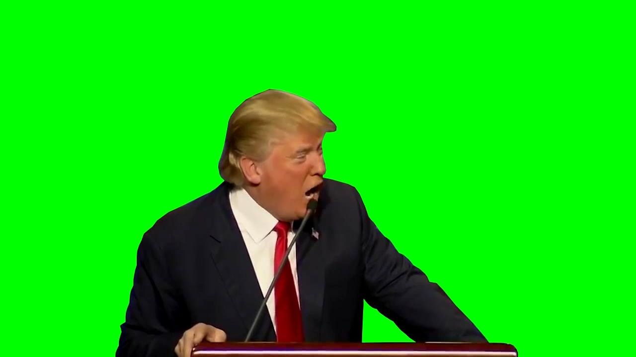 Chroma Key Donald Trump Get Out Green Screen Youtube