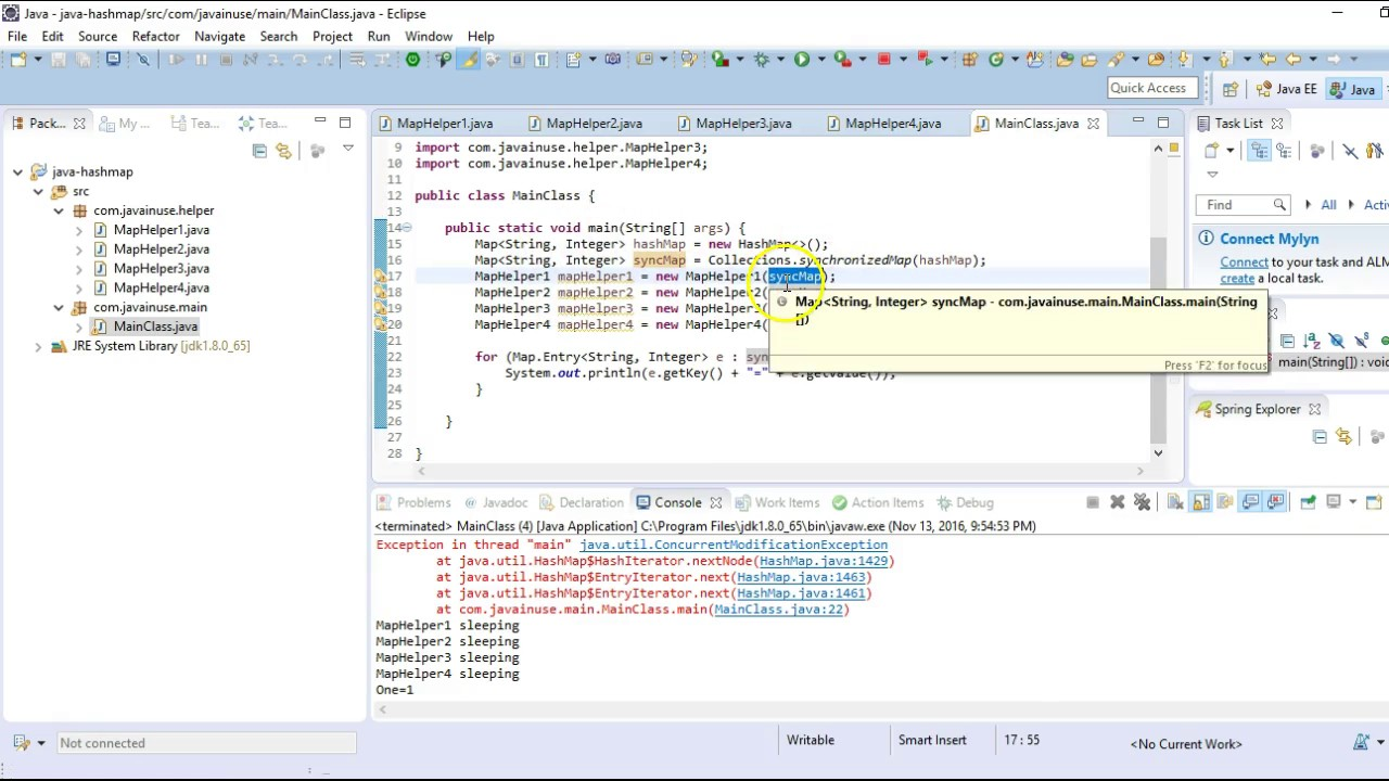 Java ConcurrentHashMap Working | JavaInUse