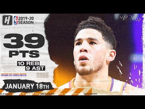 Devin Booker 39/10/9/2, 60% FG Full Highlights   Suns vs Celtics   January 18, 2020