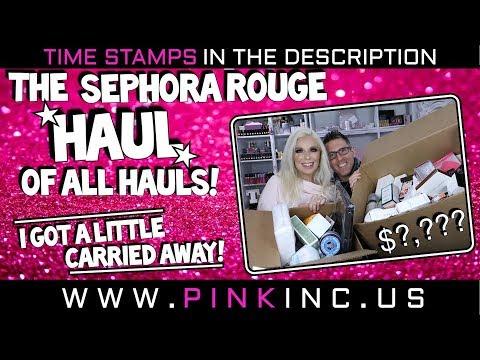 OMG!! The Sephora Rouge Haul of all Hauls! NO JOKE! $?,??? | Out of Control! | Tanya Feifel