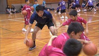 ミニバスケ大会にファイブアローズの選手たちが登場 小学生にプロの技を指導 高松市