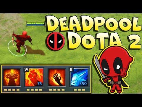 видео: deadpool В ДОТА 2 | comics heroes wars - imba show