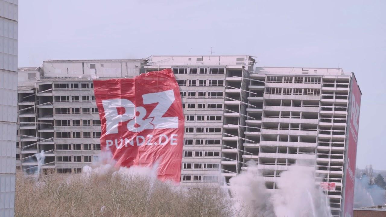 Hochhaus Sprengung Duisburg